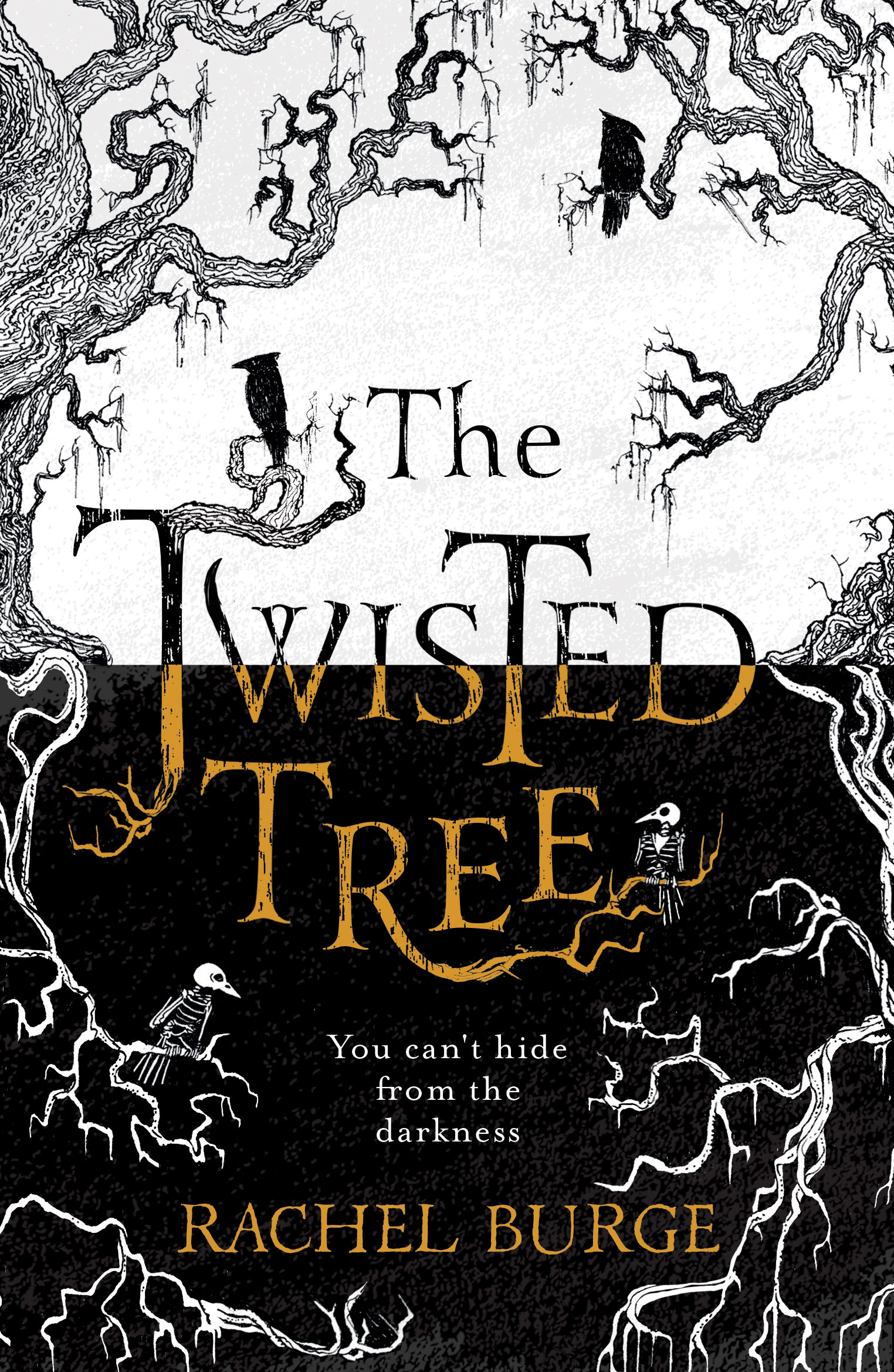 ook cover of 'The Twisted Tree'. Shows tree branches with ravens sat at different levels. In the centre of the branches is the title, beneath it is the author's name.