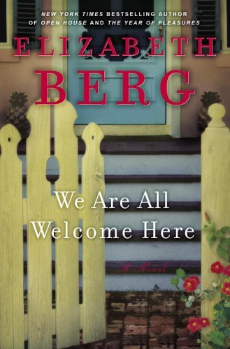 We Are All Welcome Here'. Cover shows the front of a house, with a picket fence and steps leading to the front door, which is closed.