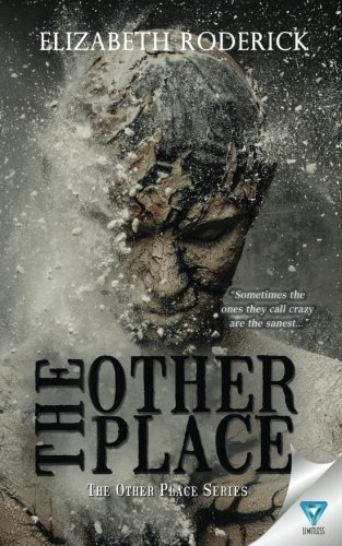 Book cover of 'The Other Place'. Cover shows a human torso and head, but it looks to be made of clay that is breaking into pieces.