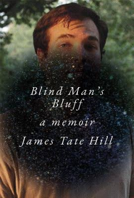 Book cover of 'Blind Man's Bluff'. Cover is of the author stood among trees, obscured by a large black spot that contains the title and author's name.
